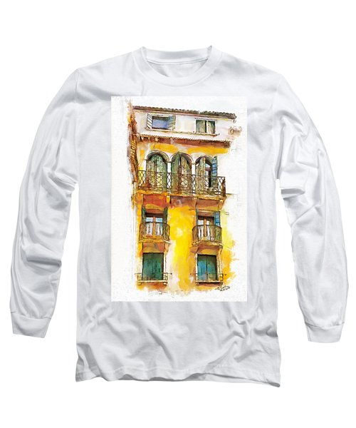Long Sleeve T-Shirt featuring the painting Radiant Abode by Greg Collins