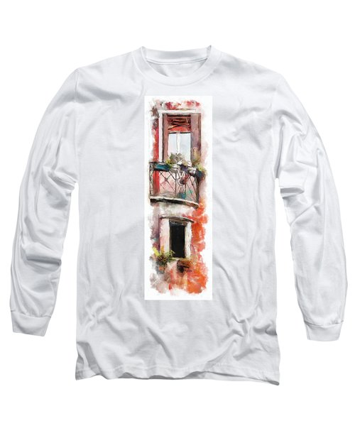 Long Sleeve T-Shirt featuring the painting Venetian Windows 4 by Greg Collins