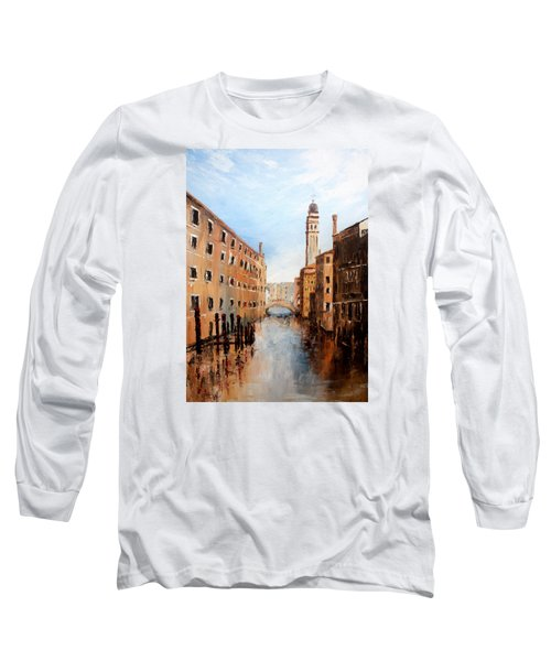 Long Sleeve T-Shirt featuring the painting Venice Italy by Jean Walker