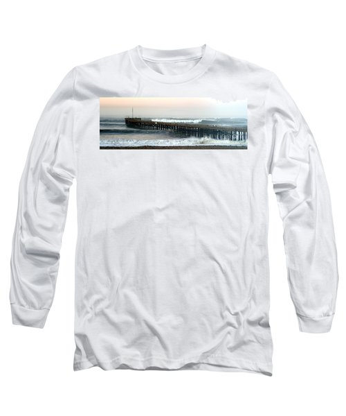 Long Sleeve T-Shirt featuring the photograph Ventura Storm Pier by Henrik Lehnerer