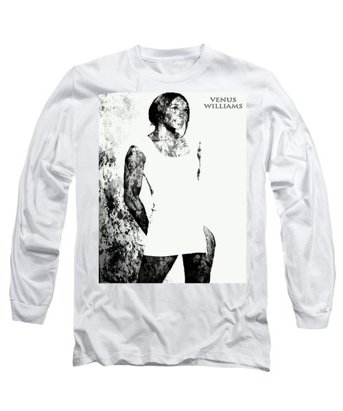 Venus Williams Paint Splatter 2c Long Sleeve T-Shirt