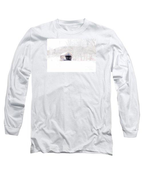 Vermont Covered Bridge Long Sleeve T-Shirt by Marcia Lee Jones