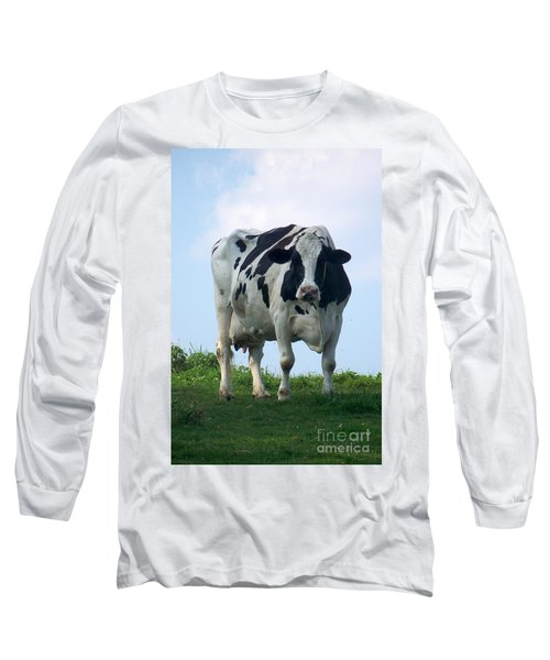 Vermont Dairy Cow Long Sleeve T-Shirt by Eunice Miller