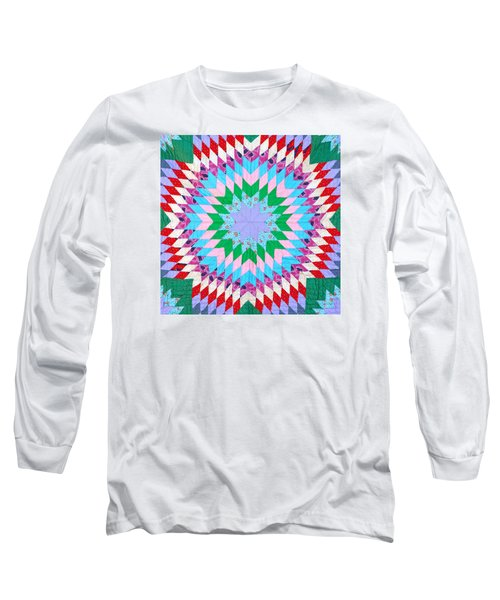 Vibrant Quilt Long Sleeve T-Shirt by Art Block Collections