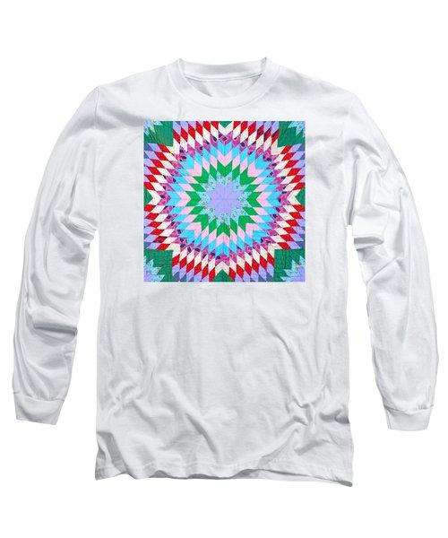 Vibrant Quilt Long Sleeve T-Shirt