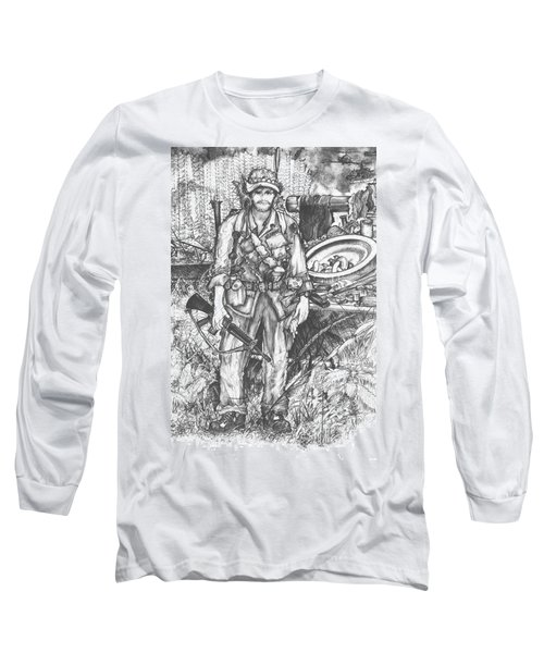 Vietnam Soldier Long Sleeve T-Shirt by Scott and Dixie Wiley