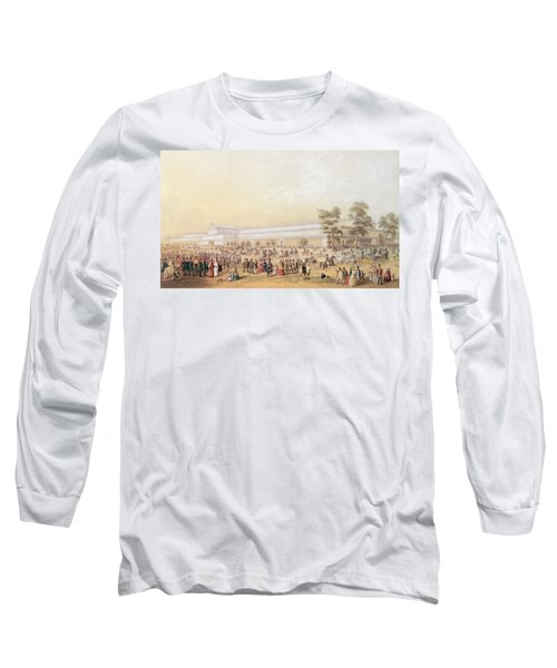 View Of The Crystal Palace Long Sleeve T-Shirt by George Baxter