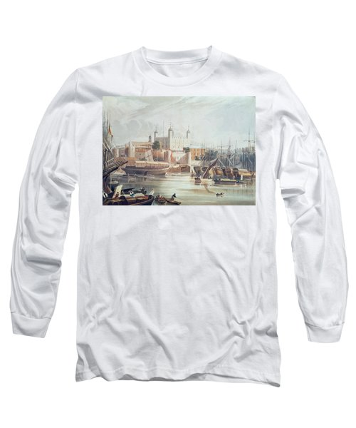 View Of The Tower Of London Long Sleeve T-Shirt by John Gendall