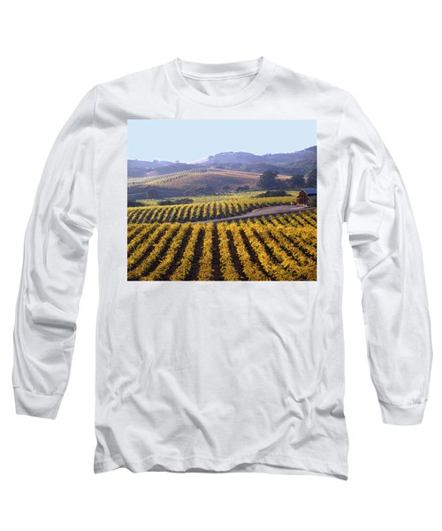 6b6386-vineyard In Autumn Long Sleeve T-Shirt