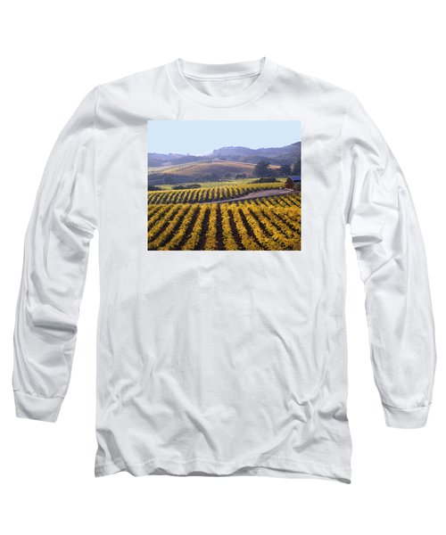 6b6386-vineyard In Autumn Long Sleeve T-Shirt