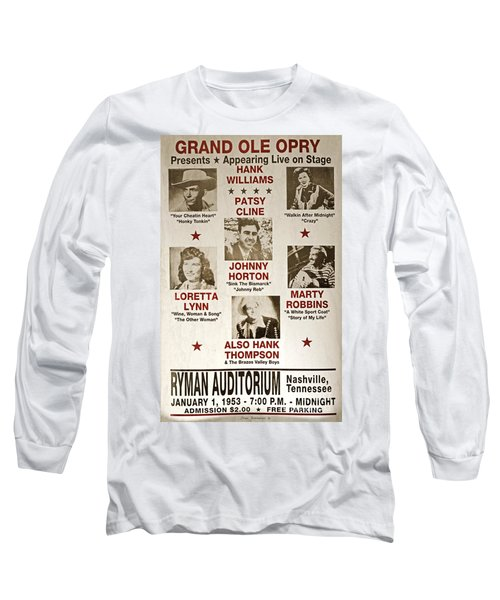 Vintage 1953 Grand Ole Opry Poster Long Sleeve T-Shirt