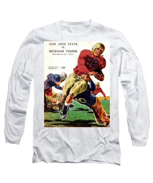 Vintage American Football Poster Long Sleeve T-Shirt