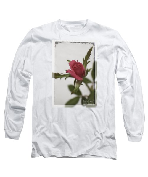 Long Sleeve T-Shirt featuring the photograph Vintage Antique Rose by Ella Kaye Dickey