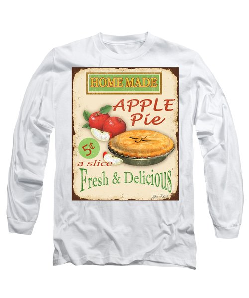 Vintage Apple Pie Sign Long Sleeve T-Shirt by Jean Plout