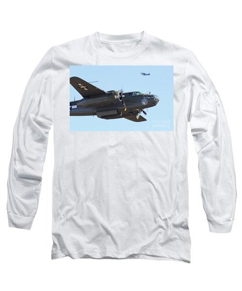 Vintage B-25 Mitchell Bomber Long Sleeve T-Shirt