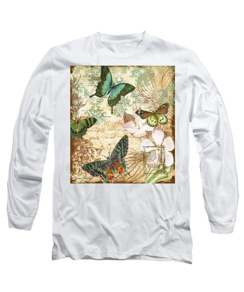 Vintage Butterfly Kisses  Long Sleeve T-Shirt