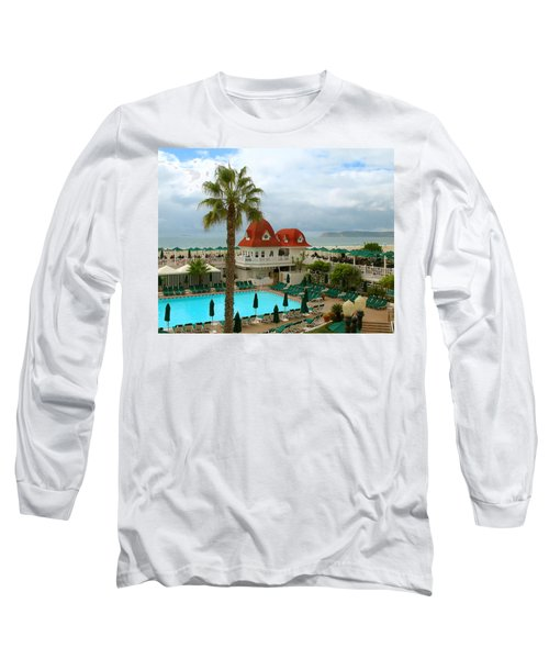 Vintage Cabana At The Del Long Sleeve T-Shirt by Connie Fox