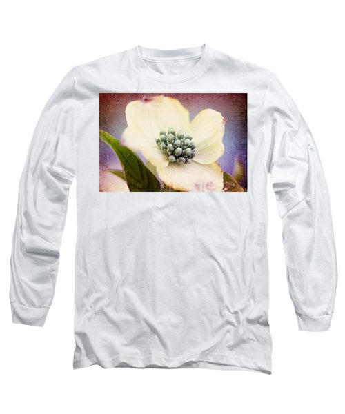Long Sleeve T-Shirt featuring the photograph Vintage Dogwood Blossom by Trina  Ansel