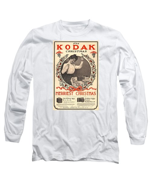 Vintage Kodak Christmas Card Long Sleeve T-Shirt