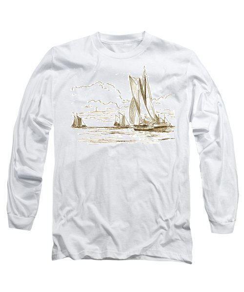 Vintage Oyster Schooners  Long Sleeve T-Shirt