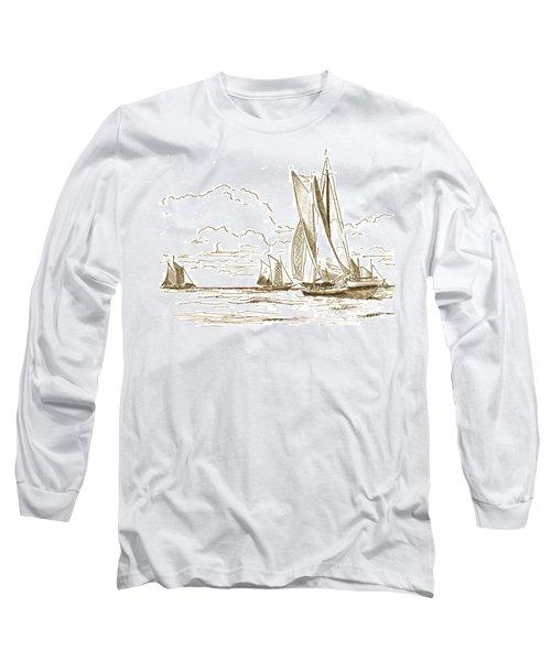 Vintage Oyster Schooners  Long Sleeve T-Shirt