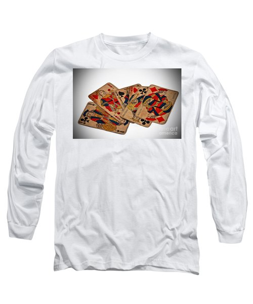 Vintage Playing Cards Art Prints Long Sleeve T-Shirt