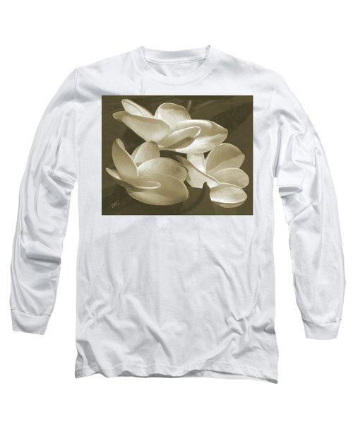 Vintage Plumeria Trio Long Sleeve T-Shirt