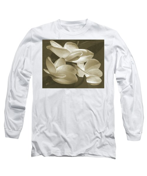 Vintage Plumeria Trio Long Sleeve T-Shirt