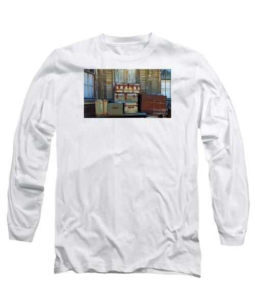 Vintage Trunks   Sold Long Sleeve T-Shirt by Marcia Lee Jones
