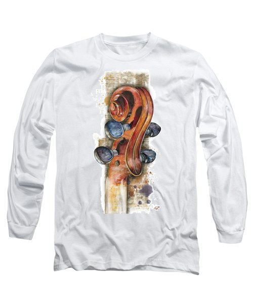 Violin 02 Elena Yakubovich Long Sleeve T-Shirt