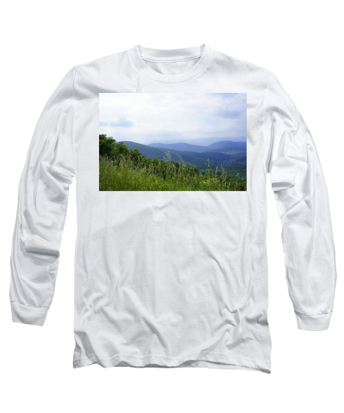 Long Sleeve T-Shirt featuring the photograph Virginia Mountains by Laurie Perry