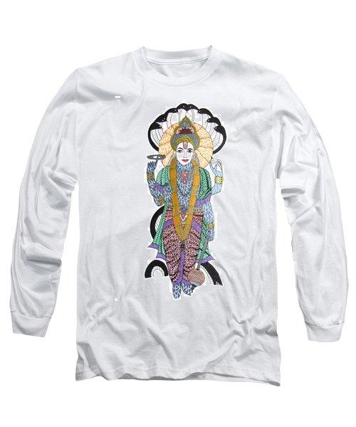 Vishnu II Long Sleeve T-Shirt by Kruti Shah