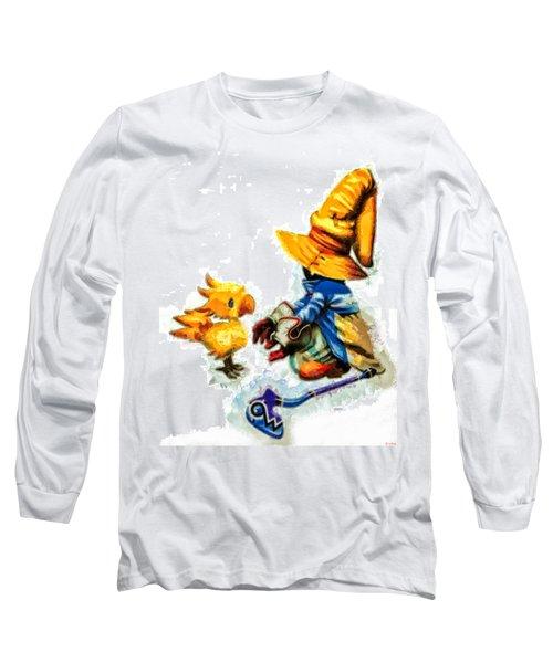 Vivi And The Chocobo Long Sleeve T-Shirt by Joe Misrasi