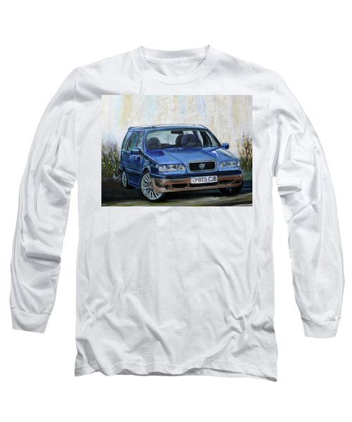 Long Sleeve T-Shirt featuring the painting Volvo by Anna Ruzsan