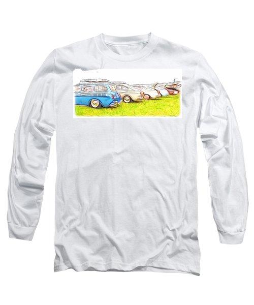 Vw Squareback Art Long Sleeve T-Shirt