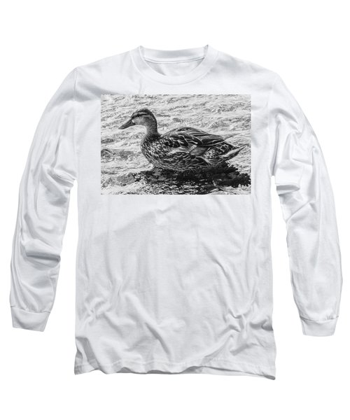 Wading Female Mallard Long Sleeve T-Shirt