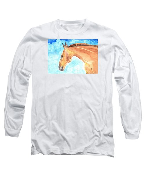 Waiting Silently Long Sleeve T-Shirt by Kate Black