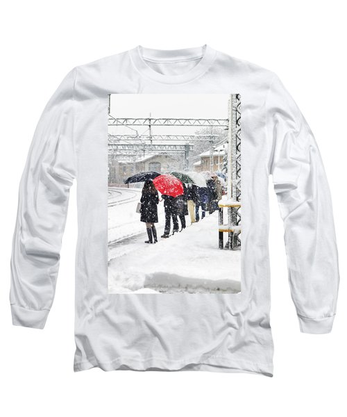 Waiting The Train Long Sleeve T-Shirt