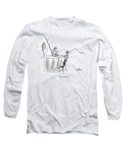 Waldo Speaks To A Guru Long Sleeve T-Shirt