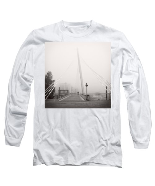Long Sleeve T-Shirt featuring the photograph Walking Through The Mist by Ari Salmela
