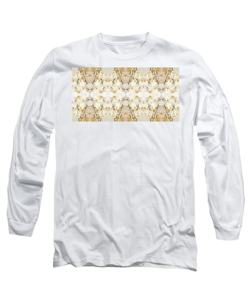 Wall Of Orchids II Panorama Long Sleeve T-Shirt by Paul Ashby