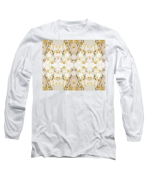 Wall Of Orchids II Long Sleeve T-Shirt by Paul Ashby