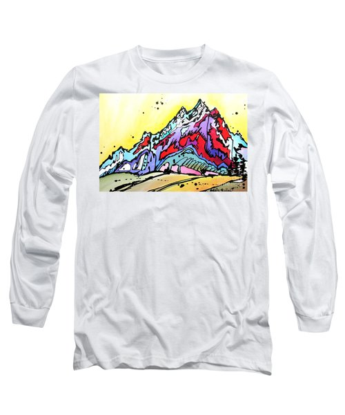 Long Sleeve T-Shirt featuring the painting Waning Seasons In The Tetons by Nicole Gaitan