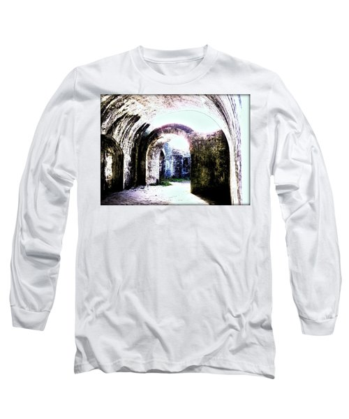 War At Fort Pickens Long Sleeve T-Shirt by Faith Williams