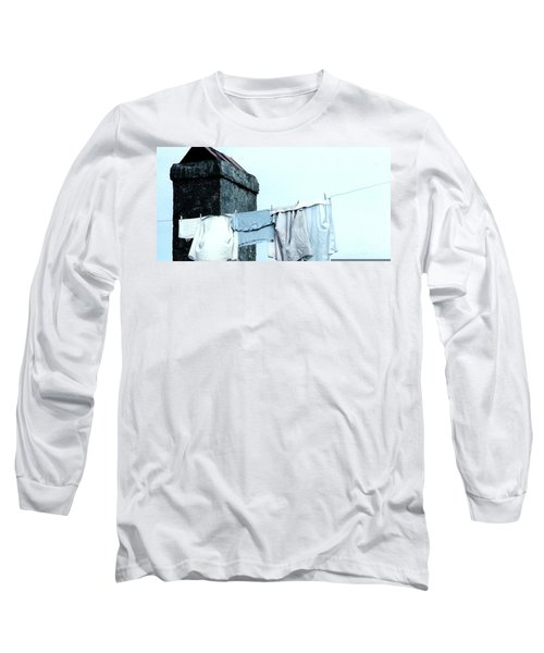 Long Sleeve T-Shirt featuring the photograph Wash Day Blues In New Orleans Louisiana by Michael Hoard