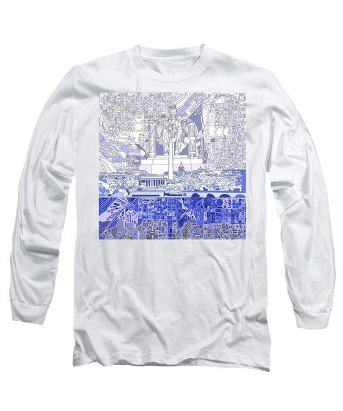 Washington Dc Skyline Abstract 3 Long Sleeve T-Shirt