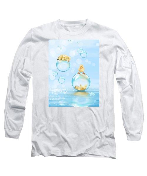 Water Games Long Sleeve T-Shirt by Veronica Minozzi