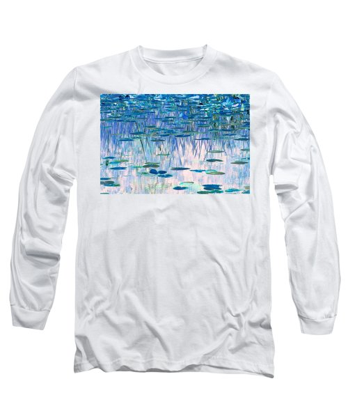 Water Lilies Long Sleeve T-Shirt by Chris Anderson