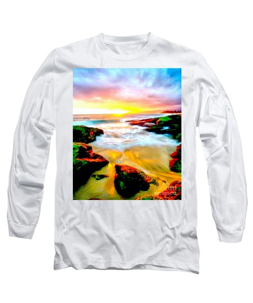 Water Runs To It Long Sleeve T-Shirt by Catherine Lott