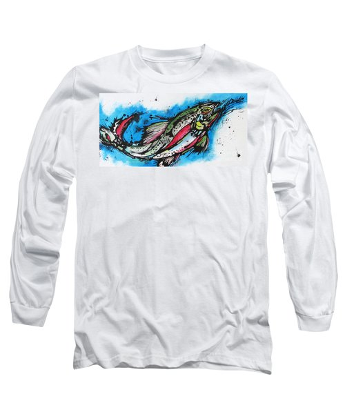 Long Sleeve T-Shirt featuring the painting Water Way by Nicole Gaitan